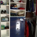 Blue Acrylic Closet Drawers