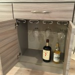 ENTERTAINMENT UNIT WINE GLASS STORAGE