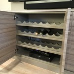 Entertainment Center with Wine Rack