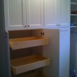 Custom Pantry Cabinet with Slide Out Drawers