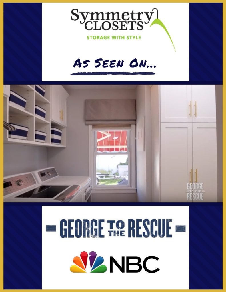 Symmetry Closets, Laundry Room, NBC, New York, George to the Rescue, Washer, Dryer, Custom Storage