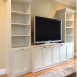 Entertainment Center, Custom built in, white shaker, white cabinets