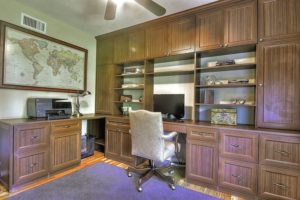 Symmetry closets, custom desk, custom home office, custom built ins, work area, custom design