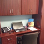 Mahogany Flat Panel Home Office Design