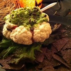 Cauliflower Halloween Brain Zombie Recipe