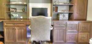 symmetry closets, custom home office, custom built ins, custom desk