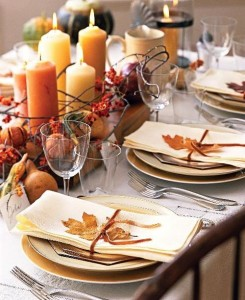 thanksgiving, table setting, fall, orange, fall colors