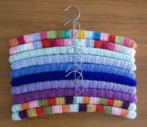 Yarn Bombed Hangers (Etsy)