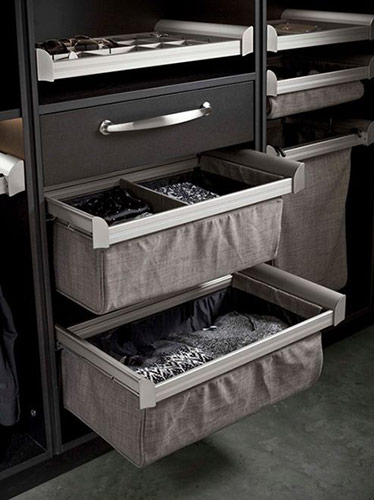 Drawer dividers, custom built-ins, pull out drawers, organizing, closet organization