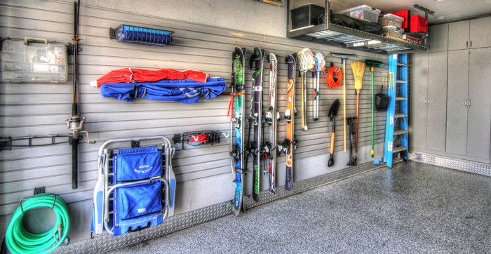 Custom garage storage, ski storage options