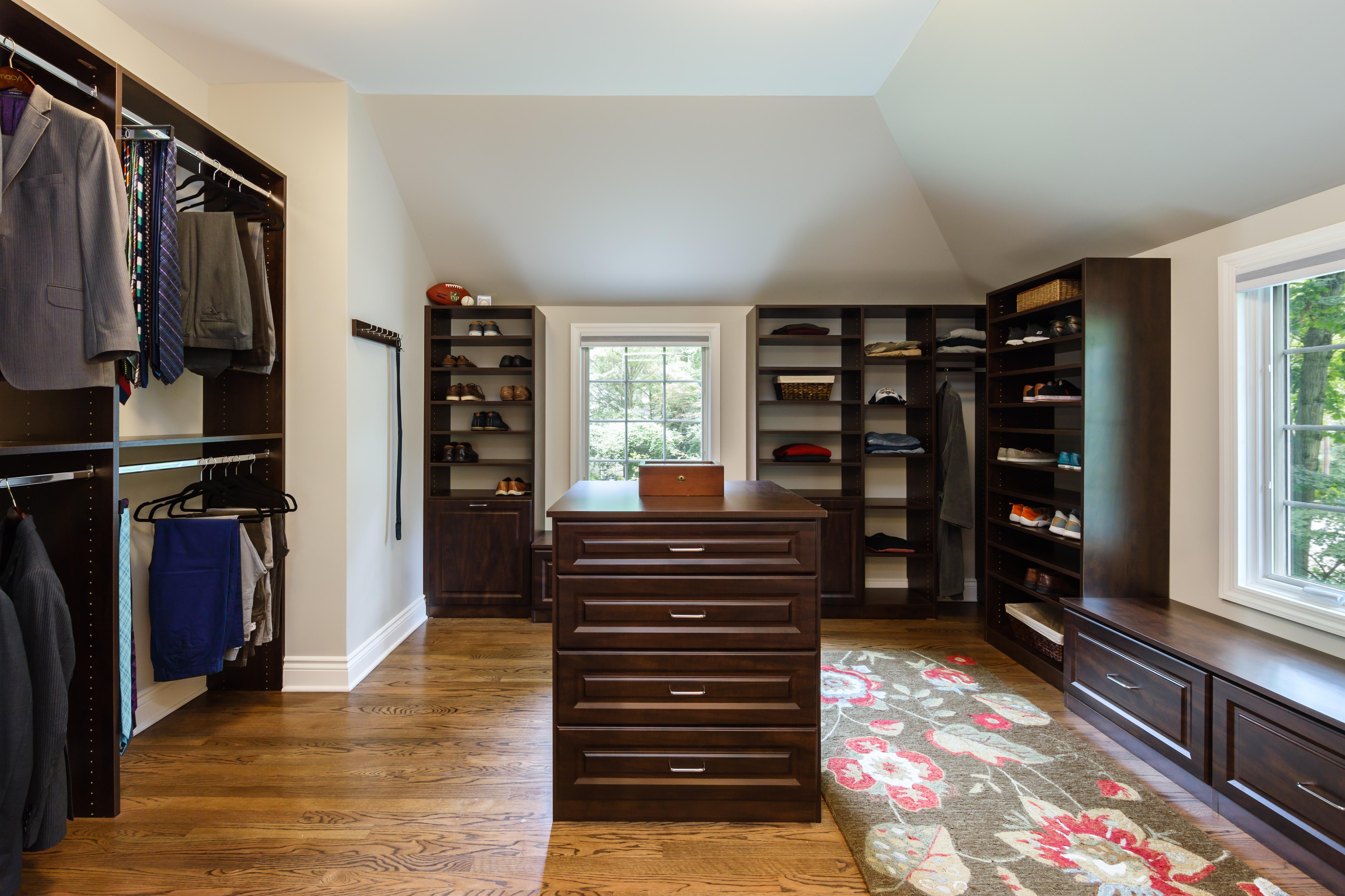 Symmetry Closets custom wardrobe, Wardrobe closet, closet island, master walk-in, his master closet