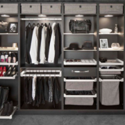 Symmetry Closets Organized, wall unit, shoe storage, accessory storage, fashion display