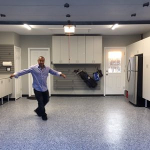 garage, epoxy floor, garage cabinets, remodeling