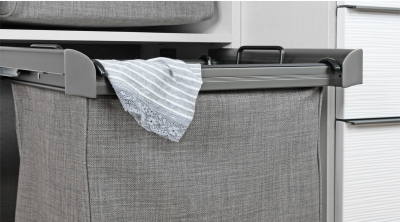 Symmetry Closets: Engage Pull Out Hamper