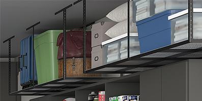 Symmetry Garages: Overhead Rack