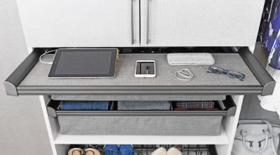 Symmetry Closets: Engage Pull Out Shelf