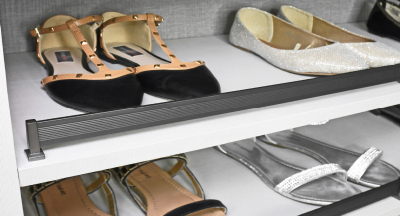 Symmetry Closets: Engage Shoe Fence (Other Finishes Available)